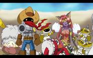 Deputymon, Beastmon, PawnChessmon, Jijimon and Dondokomon