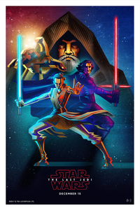 Luke Kylo and Rey Poster Posse TLJ