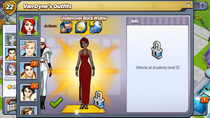 Outfit Undercover Black Widow
