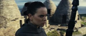 Rey follows Luke
