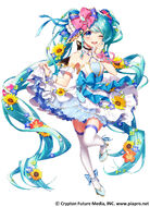 Yande.re 678944 hatsune miku heels skirt lift tagme thighhighs vocaloid