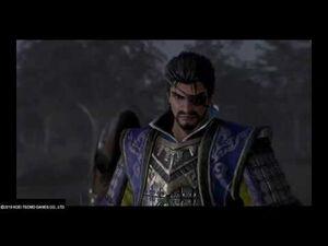 Dynasty Warriors 9 - Xiahou Dun faces Guan Yu (Chinese + English dubs)