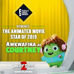 2019 People's Choice Awards - Nominee The Animated Movie Star of 2019 - Awkwafina as Courtney