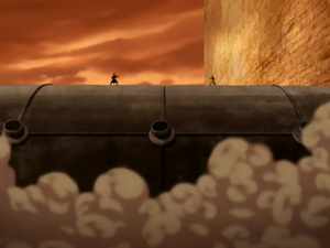Aang and Azula about to fight