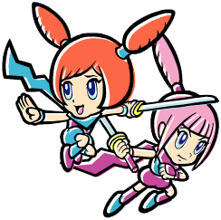 Kat and Ana WarioWare Touched