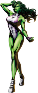 She-Hulk MvC3 artwork