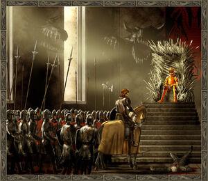 Eddard Jaime Aerys Iron Throne Room