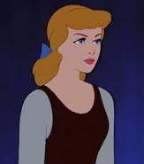 Cinderella in her servant girl attire