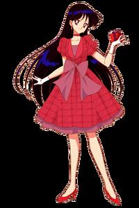 Raye Hino red dress
