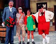 Chespirito chavo chilindrina jirafalde and junior