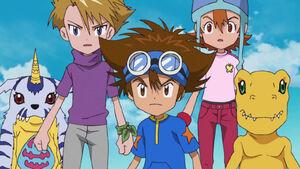 Ep 27 - Gabumon, Yamato, Taichi, Agumon and Sora