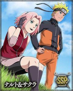 Naruto and Sakura Card 1