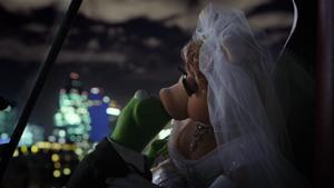 Kermit and Miss Piggy's kiss