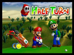 Mario Golf 64 half turn