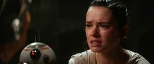 Rey cries - TFA