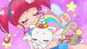 STPC33 Unicorn Fuwa and Hikaru in the Eyecatch