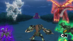 Five Bakugan is facing Bakuzon