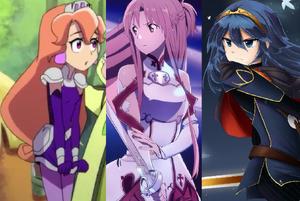 Princess Amethyst, Asuna Yuuki, and Lucina