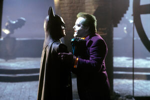 Batman and Joker confrontation