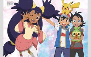 Iris with Ash, Pikachu, and Goh (1)