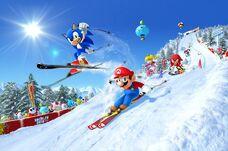 Mario & Sonic Sochi 2014 - Box artwork