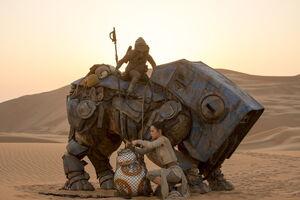 Rey saves BB-8