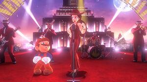 Mario and Pauline singing