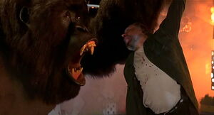 Mighty Joe Young roaring in Strasser's face
