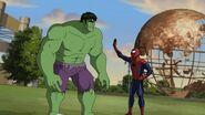 Spider-Man is with Hulk