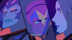 Acxa, Ezor, and Zethrid hear Zarkon's transmission