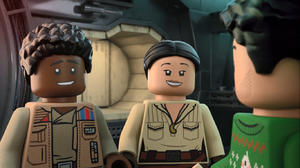 Finn and Rose smiling - The LEGO Star Wars Holiday Special