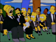 Homer at Grimes' funeral