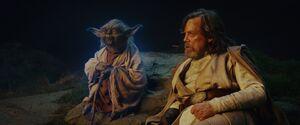 Luke and Yoda - TLJ