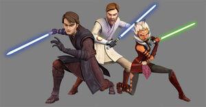 Obi,Anakin and Ahsoka