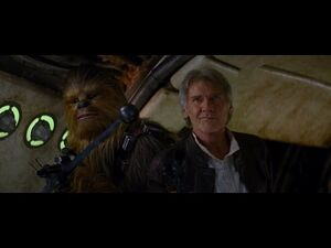 Han Solo steals back Millennium Falcon for good - Star Wars- The Force Awakens
