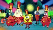 SpongeBob at Super Bowl 2019