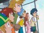 Takeru, Koushiro, Yamato, Sora, Mimi & Joe