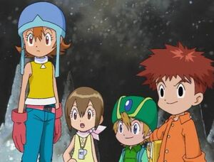Sora, Hikari, Takeru and Koshiro