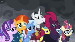 Tempest shadow with the ponies
