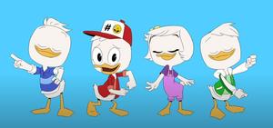 Huey Dewey Louie and Webby