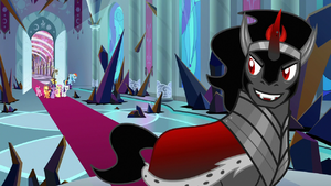 Sombra sees Mane Six and Discord enter S9E2