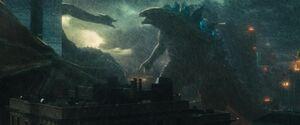 Godzilla Ghidorah Struggle