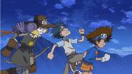Taichi, Joe and Nohemon escape