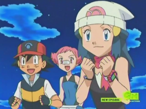 Ash and Dawn with Maylene (Enter Galactic!)