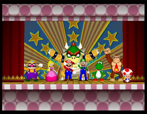 Mario party 2 64 all characters in the ending 2