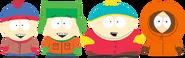 Stan, Kyle, Cartman, and Kenny