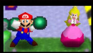 Mario Party 2 64 mario and peach in Balloon Burst