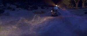 Mater driving backwards