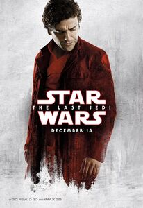 TLJ Poe White and Red Poster