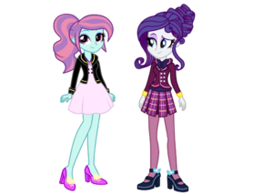 Wondercolt sunny flare and shadowbolt rarity by mixiepie-d9oeou1